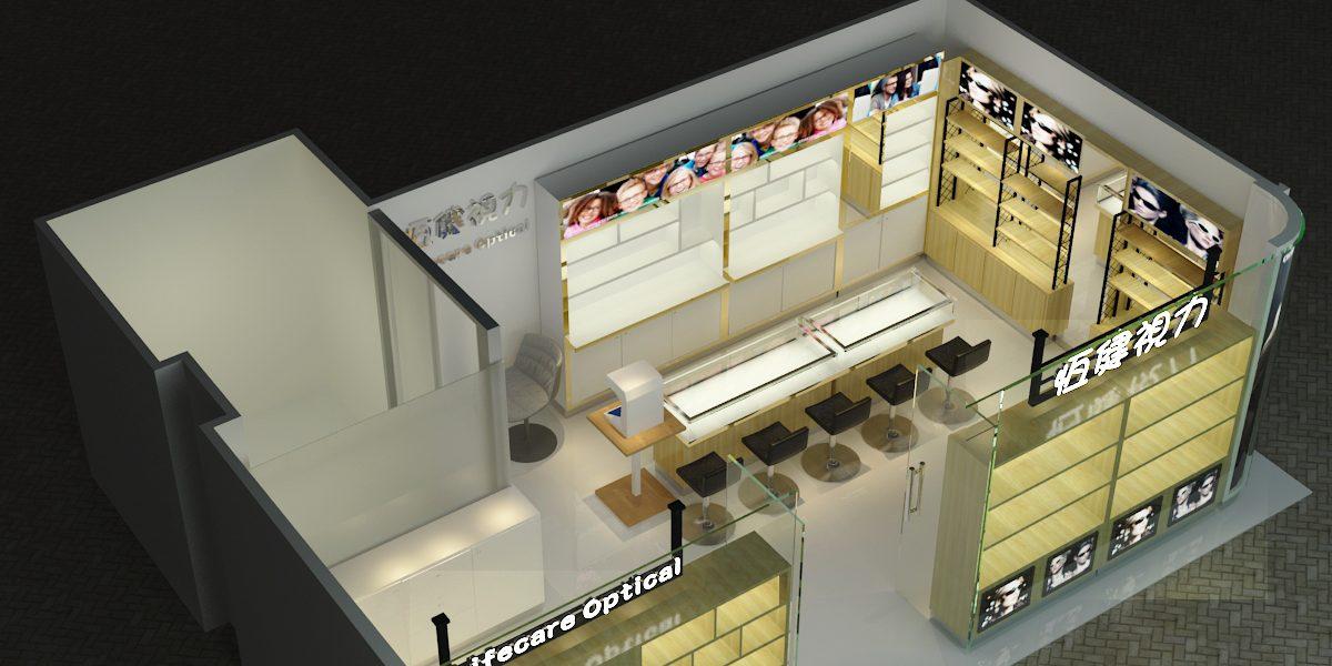 Retail Optical Shop Decoration Wooden Optical Display For Shop Sunglasses Mall Kiosks Food Kiosks Custom Retail Kiosks Mykioskey