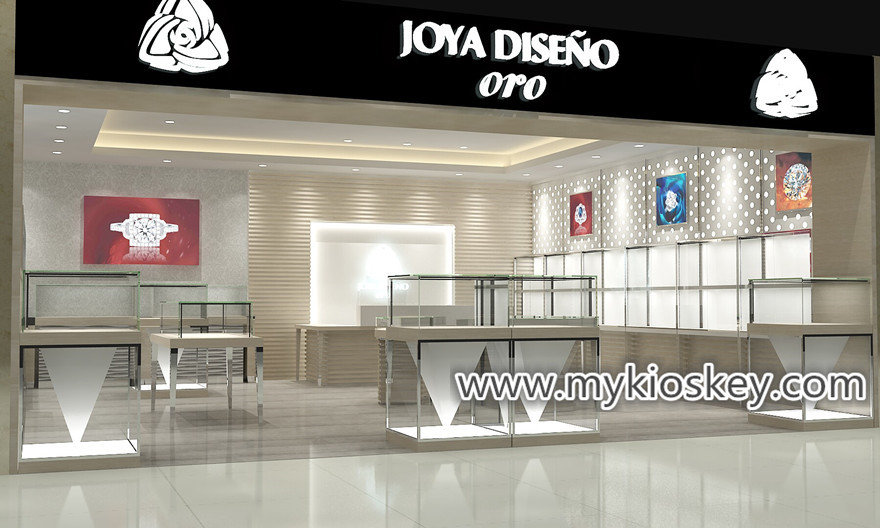 Luxury Retail Jewelry Shop Interior Furniture Decoration