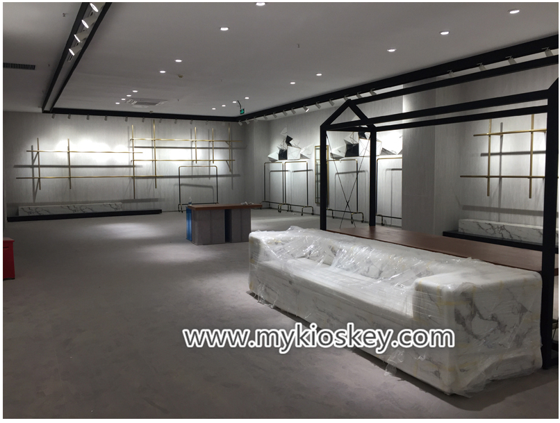 High End Retail Clothes Shop Furniture Counter Design