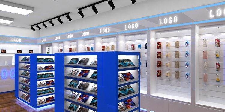 Top Selling Retail Cell Phone Shop Interior Furniture Decoration Design