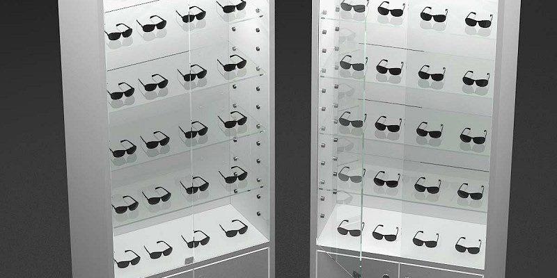 66ccdca942e2 Batch white sunglasses display cabinet