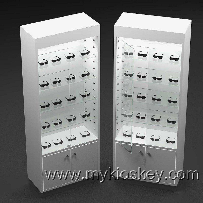 Ordinaire New Finished Sunglasses Wall Display Cabinet And Showcase For Retail Shop