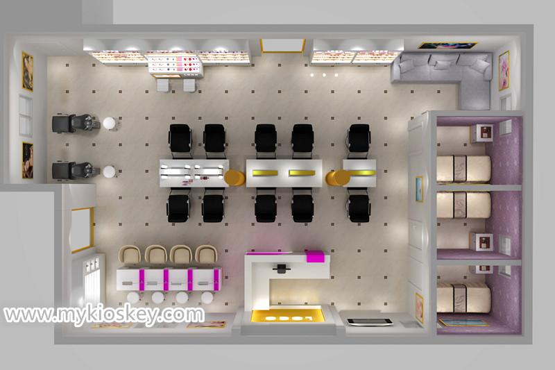 retail facial care shop interior design