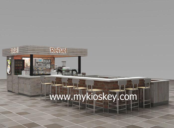 mall coffee kiosk