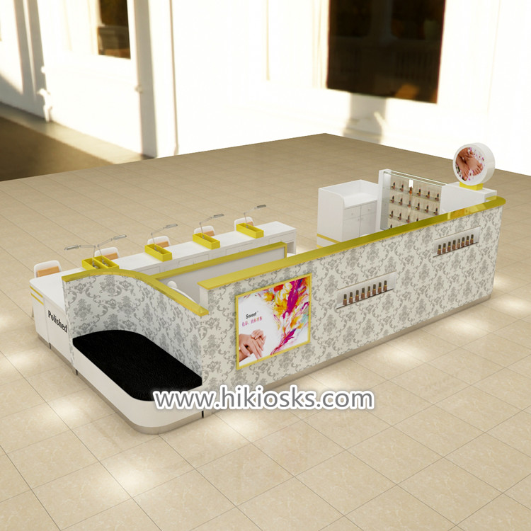 America Popular Nail Kiosk With Manicure Table For Sale