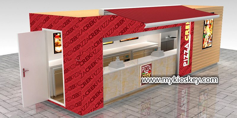 new styles ab6a5 c4b09 Outdoor retail wooden pizza shop interior design for sale