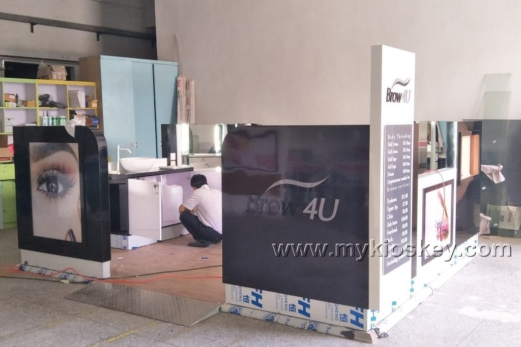 eyebrow threading kiosk