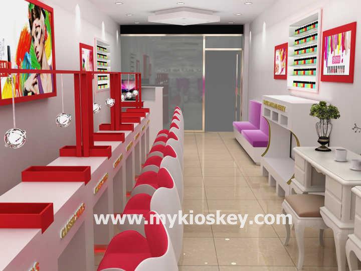 Fancy Beauty Salon Furnitrure Manicure Store Design