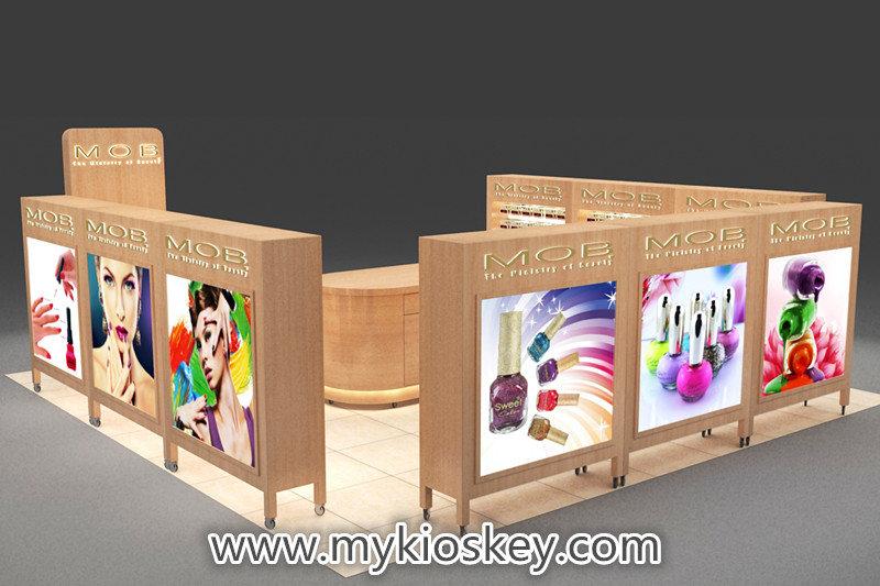 nail polish exhibition booth design