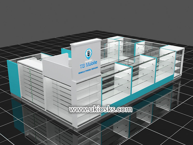 mobile phone accesssories display kiosk