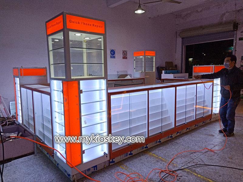 'phone repair kiosk