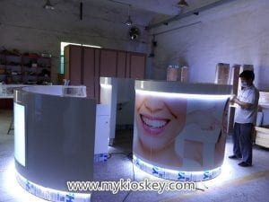 teeth whitening kiosk design