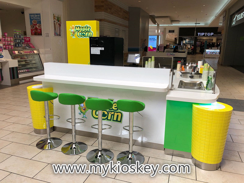 mall sweet corn booth design