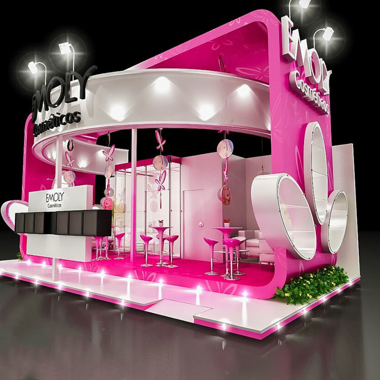 cosmetic display booth