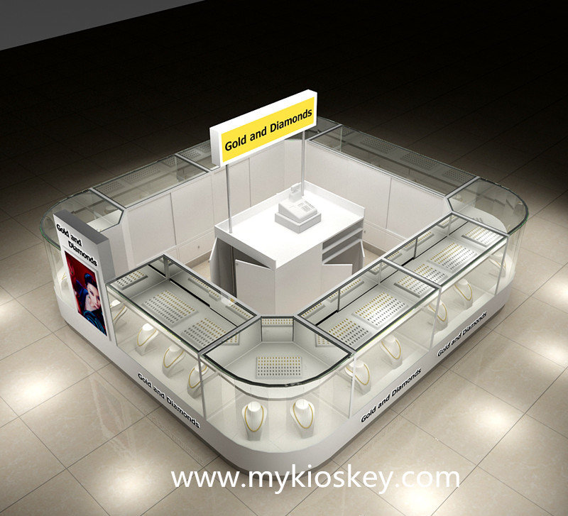gold and diamands display kiosk