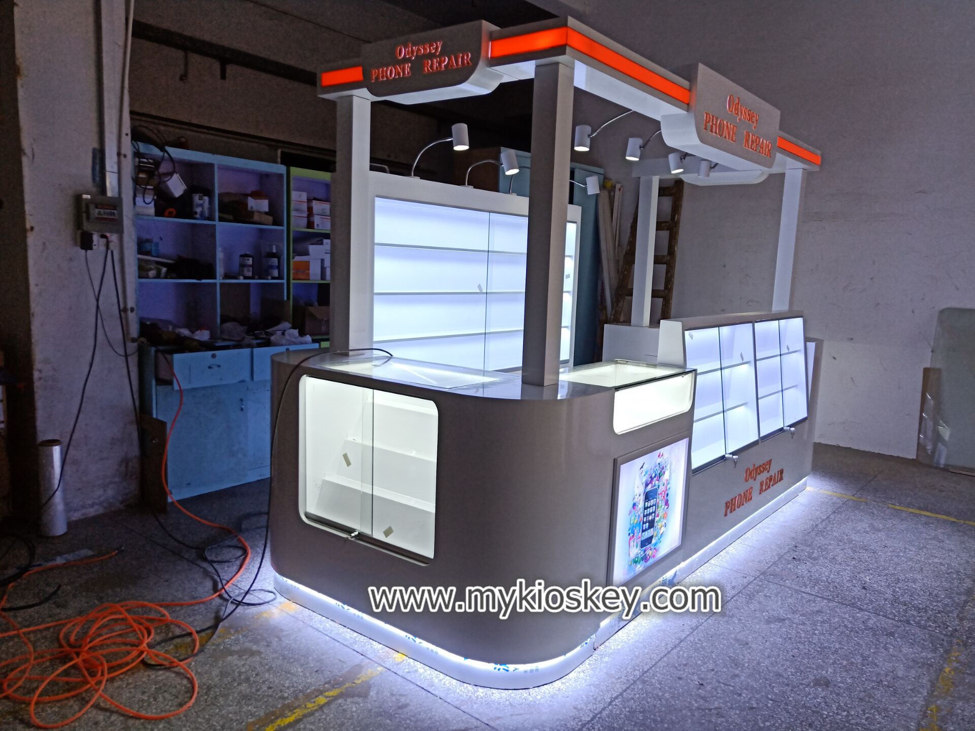mobile phone accessories repair kiosk