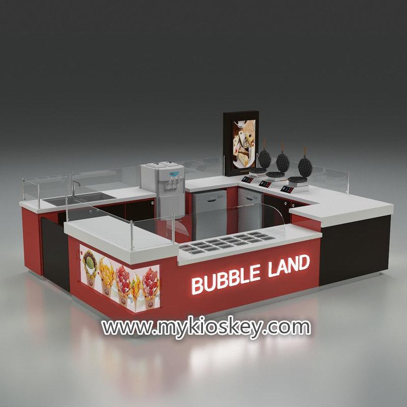 bubble waffle kiosk