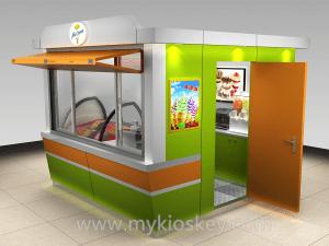 outdoor ice cream kiosk