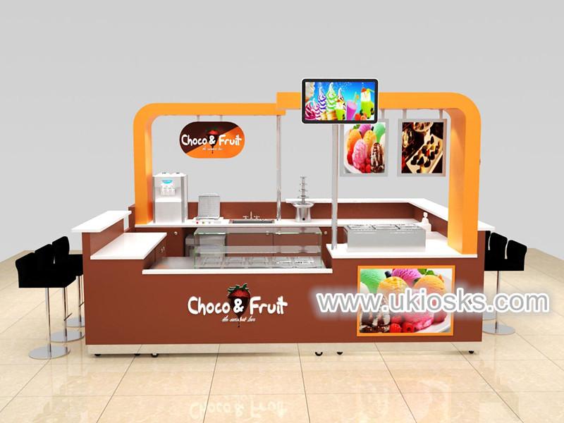 mall ice cream display kiosk design