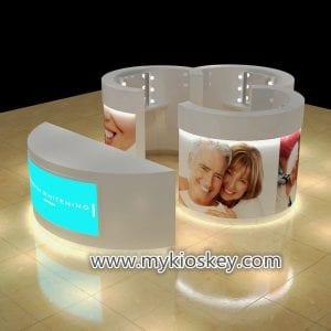 mall teeth whitening kiosk design