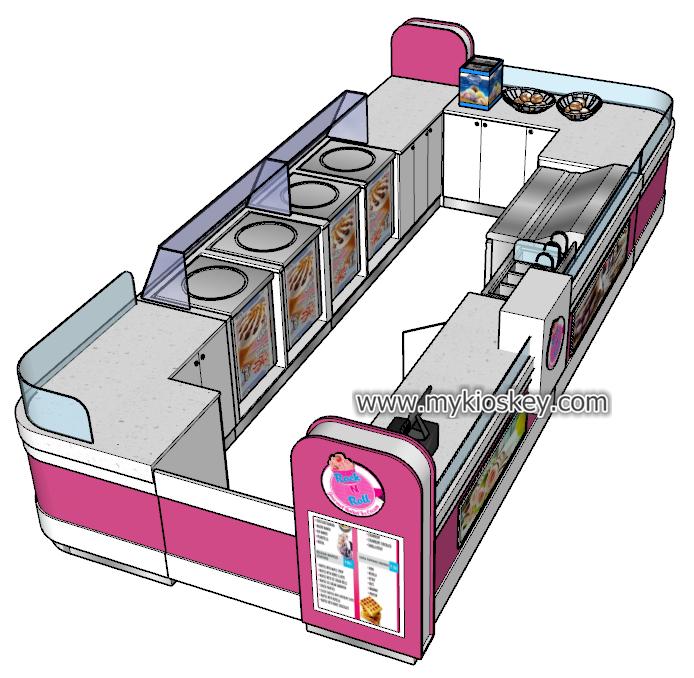fried ice cream kiosk