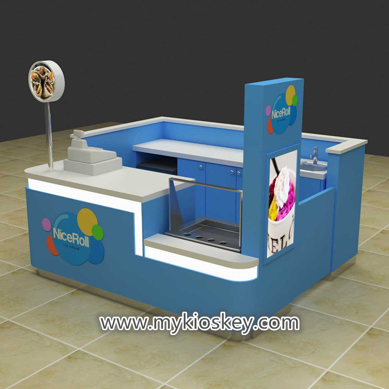 ice cream roll kiosk