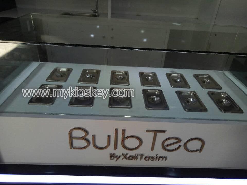 bubble tea kiosk topping