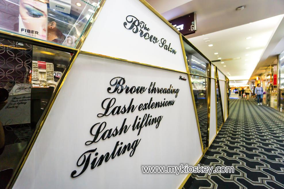 brow bar threading kiosk
