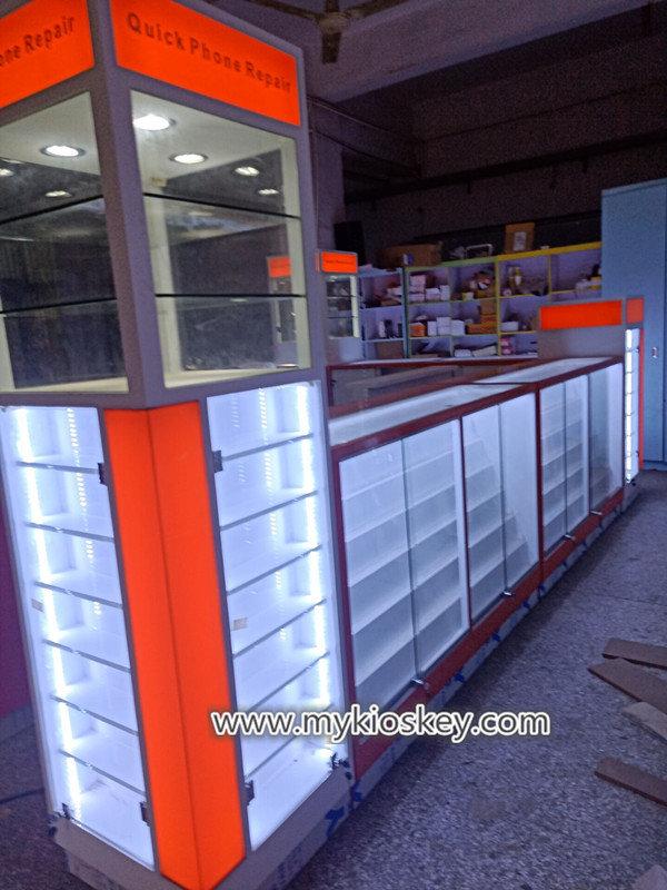 fried ice cream kiosk: