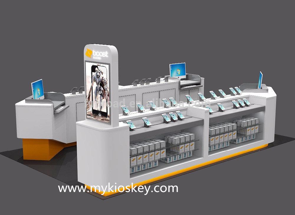 mobile phone display kiosk