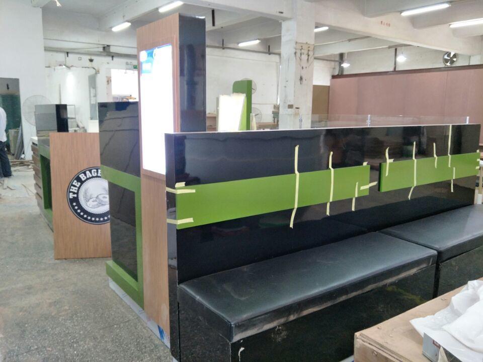 mall bagel display kiosk
