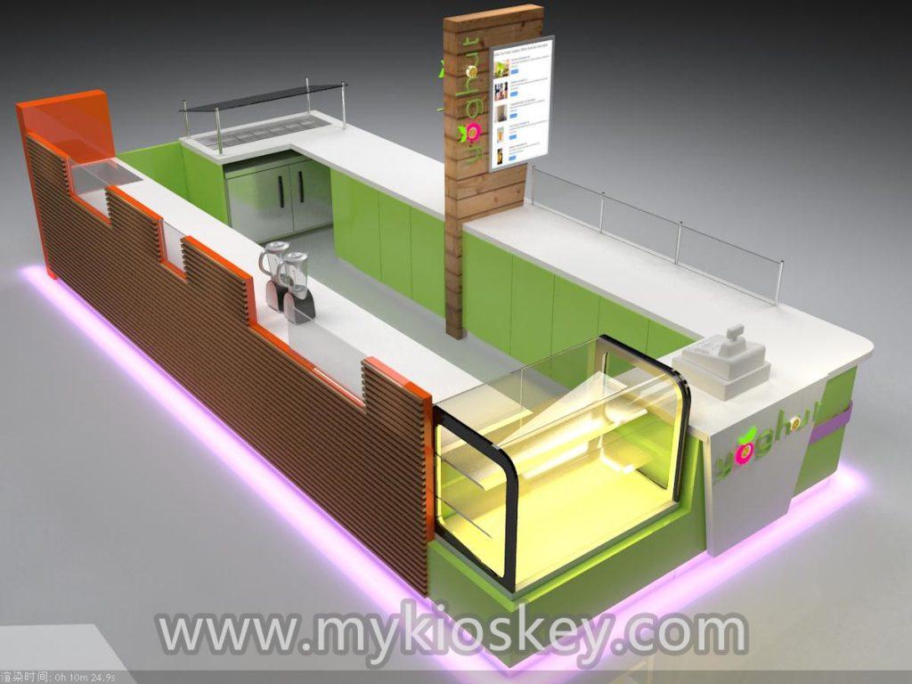 frozen yogurt kiosk