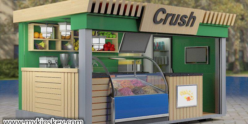 4X2 outdoor fast food juice bar kiosk design for sale
