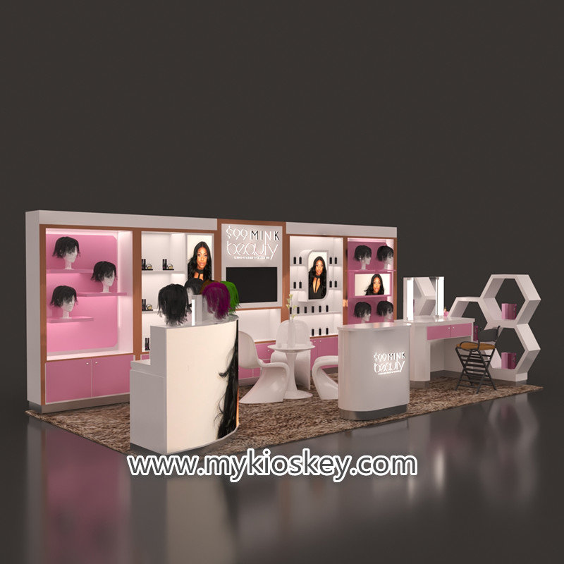 hair beauty exhibition kiosk