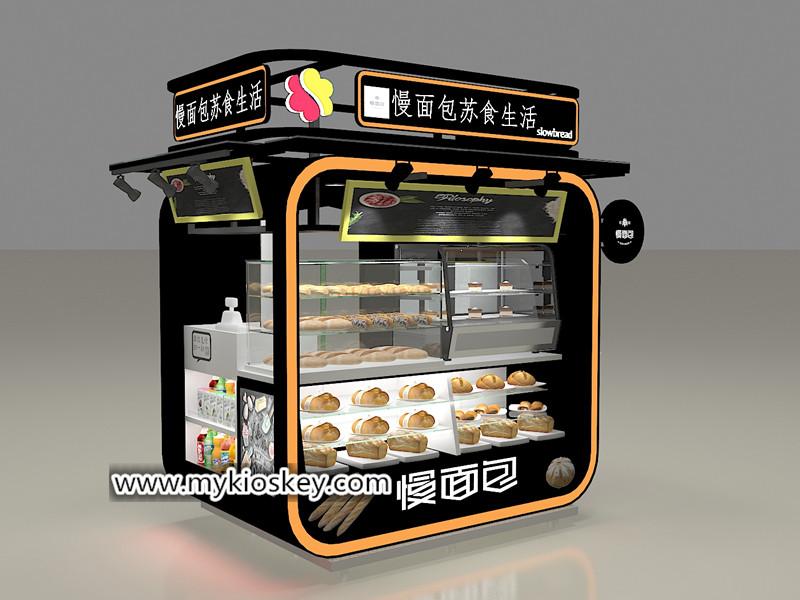 Customized outdoor food bakery display kiosk design for sale