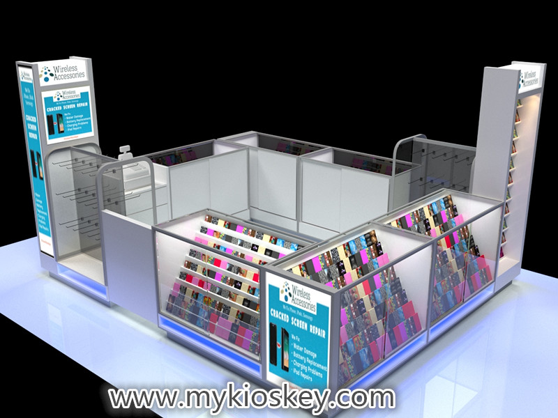 cellphone accessories kiosk