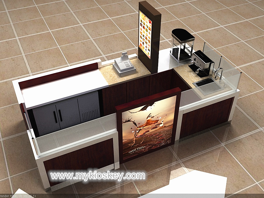 High End Commercial Coffee Kiosk Design In Mall For Sale