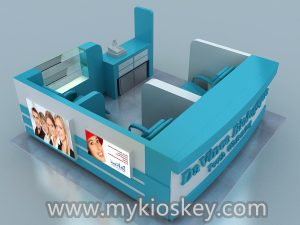 Teeth-whitening kiosk