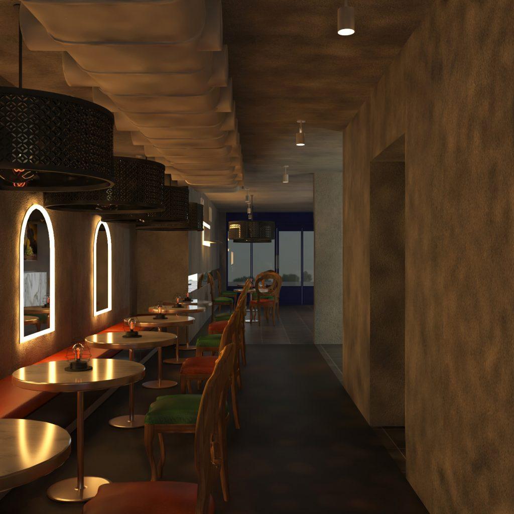 bar counter restaurant
