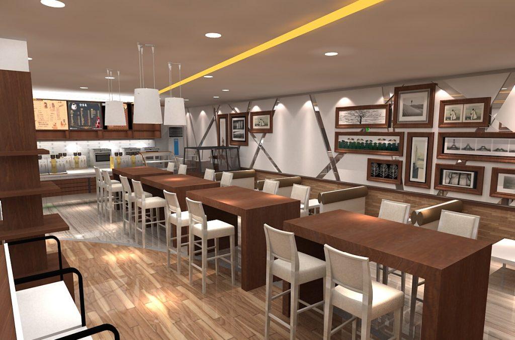 coffee store interior design
